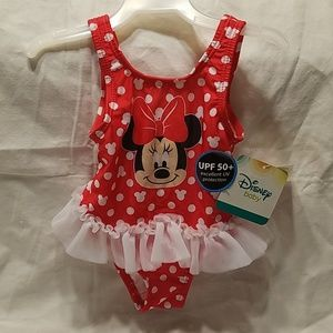 Other - Minnie Mouse Swimsuit  Size 3/6 months